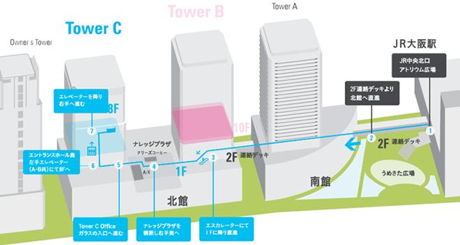 会場近辺の地図