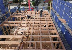 木造軸組剛床工事