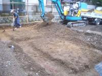 掘り方と割栗石地業