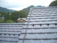 大屋根の瓦葺き完了