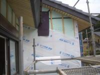 外壁部防水シートの施工