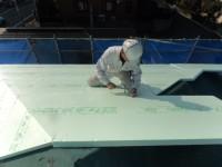 屋根の一層目断熱工事