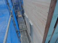 外壁下地板の施工