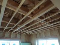 天井下地と天井ボード貼り