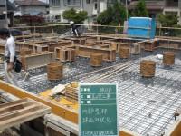 基礎型枠の建込工事