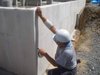 基礎保護モルタル下地施工