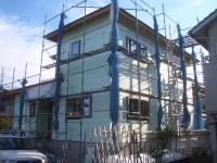 外壁断熱材2層目施工完了