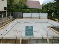 基礎工事Ⅲ 配筋と型枠建込工事