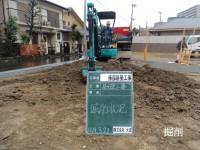 基礎掘削と割栗石