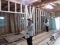 下地板斜め張り工事検査(TIP構法)