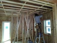 天井下地工事及び木質フロアー施工