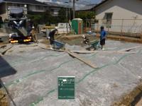 防湿シート敷き込み及び捨てコンクリート打設工事