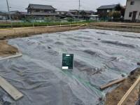 防湿シート敷き込み・捨てコンクリート打設